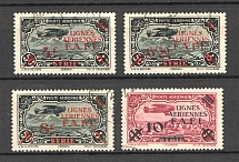 1942 French Offices Forces in Levant Airmail (CV $25, Full Set, Cancelled)