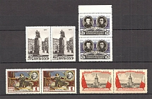 1955 Anniversary of the USSR-Polish Tready of Friendship Pairs (Full Set, MNH)