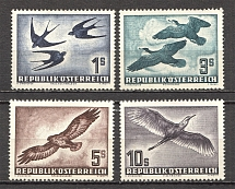 1953 Austria Airmail (CV $380, Full Set, MNH)