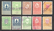 Estonia Baltic Fiscal Revenue Stamps (Cancelled)