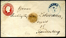 1861 - postal stationery envelope from EMDEN to VAREL