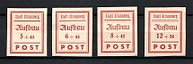 1946 Strausberg, Germany Local Post (Imperforated, Full Set, CV $15, MH/MNH)