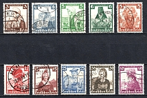 1935 Third Reich, Germany (Full Set, Canceled, CV $85)