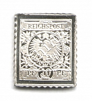 1900 Kiauchau 5 Pf (Sterling Silver Miniature, Greatest Stamps of The World)
