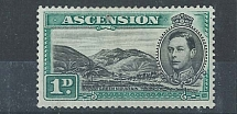 Ascension 1938 1d Green Mountain sg39 fresh mm c£45