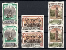 1954 USSR 100th Anniversary of the Defence of Sevastopol Pairs (Full Set, MNH)