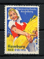 1935 Agricultural Poster Stamp Hamburg, Germany