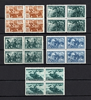 1943 The Great Fatherland War, Soviet Union USSR (Blocks of Four, Full Set, MNH)