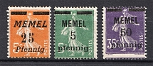 1920-22 Memel, Germany (SHIFTED Perforation, Print Error)