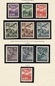 1939-44 Slovakia German Protectorat Air Post Collection (Full Sets, MNH)