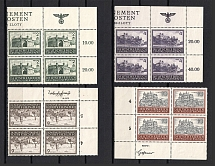 1943-44 General Government, Germany (Corner Margins, Eagle on the Field, Control Text, Control Number, Blocks of Four, Full Set, CV $15, MNH)
