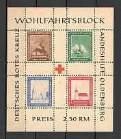 1948 Germany Oldenburg Local Issue Block (Perf, Unlisted)