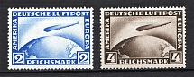 1928 Third Reich, Germany Airmail (Mi. 423-424, Full Set, CV $550, MNH)