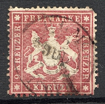1861-62 Wurttemberg Germany (CV $200, Cancelled)