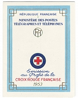 France 1953 Red Cross booklet - fine c£150