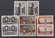 1955 USSR  10th Anniv. of USSR-Polish Treaty of Friendship Two Issues (MNH)