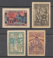 1921-22 Azerbaijan Civil War Group of Stamps (Shifted Background)