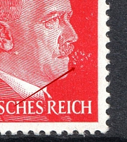 1941 12pf Third Reich, Germany (Hitler Smokes, Print Error, MNH)