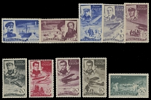 Soviet Union CHELYUSKIN RESCUE ISSUE: 1935, perforated trial color proofs set