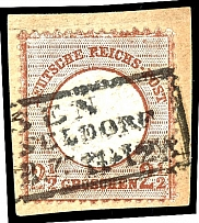 2 1/2 Gr. Medium red brown, fresh stamp with brilliant colours in
