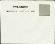 1906, essay for reply envelope with window for the value impression of the