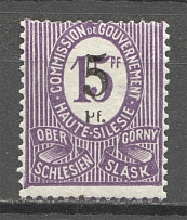 1920 Germany Joining of Silesia (CV $25, Broken `P`+Shifted Perforation, Signed)