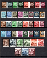 1940-41 Germany Occupation of Luxembourg and Alsace (CV $50, Full Sets, MH/MNH)