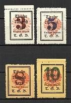 1921 Tyrol Austria Local Post (CV $70, Type II, Full Set)
