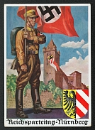 1936 Reich party rally of the NSDAP in Nuremberg, SA Standard Bearer, RARE card