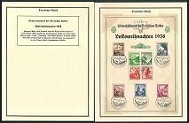 1938 Souvenir Sheet 38/26 franked with the Winter Relief Fund set of November 1938 cancelled by handstamp in Berlin