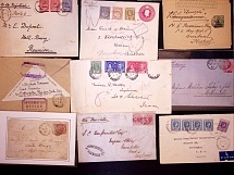 1879-1961 Selection of 70 covers and cards, plus a small selection of loose stam