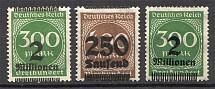 1923 Germany Inflation (Shifted Overprints, MH/MNH)
