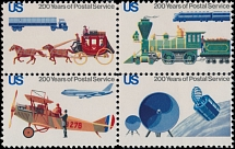 United States, 1975, Bicentennial of US Postal Service, (10c) multicolored