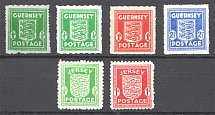 1941-44 Germany Occupation of Guernsey Jersey (CV $120, MNH/MH)