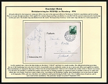 1934 Reich party rally of the NSDAP in Nuremberg, Eagle with oak branch, RARE card !!