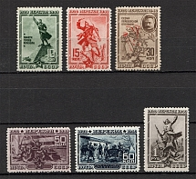 1940 The 20th Anniversary of Fall of Perekop, Soviet Union USSR (Perforated, Full Set, MNH)