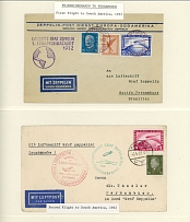 Germany-Zeppelin South America Flights of 1932, 6 covers and 1 card