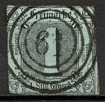 1852-58 Thurn und Taxis Germany 1 Gr (CV $150, Cancelled)