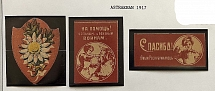 1917. Astrakhan. 3 stamps. Wounded and sick wars. Great quality. Ex - E.