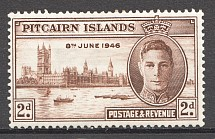 1946 British Pitcairn Islands Flaw by Launch CV $60
