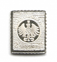 1872 Germany 2 Gr (Sterling Silver Miniature, Greatest Stamps of The World)