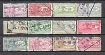 1912-19 Germany Reich Freight Stamps (Canceled)