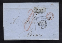 1860 Cover from Warsaw to Reims, France
