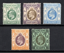 1904-11 Hong Kong, British Colonies (CV £160)