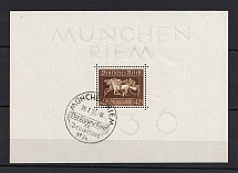 1936 Third Reich, Germany (Souvenir Sheet Mi. 4x, Special Commemorative Cancellation MUNICH, CV $25)