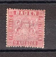BADEN, Michel no.: 12 MH, Cat. value: 330€
