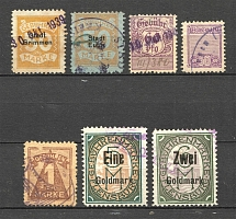 Germany Revenue Fee Stamps Group of Stamps (Canceled)