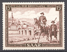 1951 Saar Germany (Full Set, MNH)