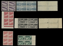 Soviet Union AIRSHIP (DIRIGIBLE) ISSUES: 1931, 10k-1r, complete set in blks of 4