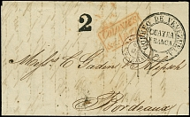 VENEZUELA - GREAT BRITAIN: 1850, Entire letter with clear